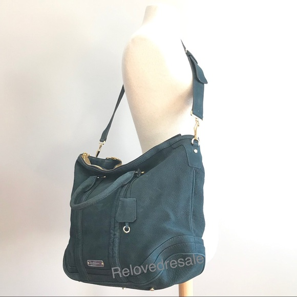 Burberry Handbags - Burberry suede large Wallis tote bag indigo green 2ab8f204678be